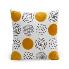 Rondissimo - Coussins décoratifs-Textiles, Tapis Coussin en coton à motifs… Plus Diy Pillows, Cushions, Throw Pillows, Diy Arts And Crafts, Pillow Design, Printing On Fabric, Motifs, Embroidery, Abstract