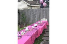 Good ideas, I like the netting on the table with the pink.  Also, a treasure box... maybe use a toy box?