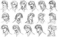 """Academy of Art Character and Creature Design Notes: Disney's """"Tangled"""" Character Design Development."""