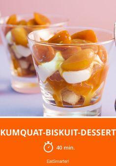 Kumquat-Biskuit-Dessert - smarter - Zeit: 40 Min. | eatsmarter.de