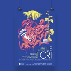Le Cri, Illustration, Artwork, Creations, Concert, Movie Posters, Cultural Center, Event Posters, Work Of Art