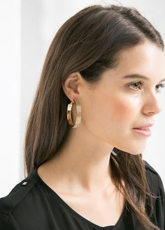 Mango HOOP EARRINGS REF. 33070227 - CHAIN C