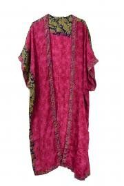 Sari Kimono Throw India Pink