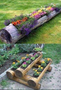 The Most Stunning Flower Garden Design Ideas That You Have to See - Gardening Ideen Garden Yard Ideas, Garden Planters, Garden Projects, Garden Art, Garden Decorations, Garden Tips, Flower Garden Design, Garden Planning, Garden Inspiration