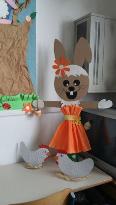 Easter Bunny - Diy and Crafts Mix Easter Arts And Crafts, Bunny Crafts, Cute Crafts, Diy And Crafts, Diy Spring Wreath, Spring Crafts, Diy For Kids, Crafts For Kids, Art Drawings For Kids