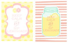 """Free Printable - """"Keep Calm and Sip on Lemonade""""  from Little Blue House"""