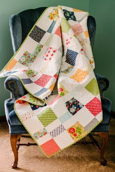 Charm Pack Cherry Quilt.--The Charm Pack Cherry quilt takes 2 print and 2 solid charm packs.