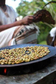 Coffee ceremony in Ethiopia.