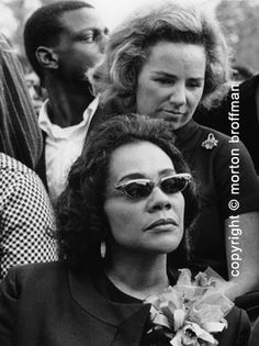 Coretta Scott King and Ethel Kennedy,  Mother's Day 1968.
