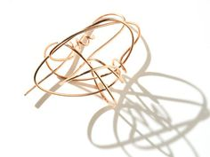 AGATHE SAINT GIRONS-FR- Gribouillis-earrings pink gold,silver-photo Muriel Borovi