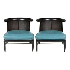 Pair of Tomilson Sophisticate Line Slipper Chairs