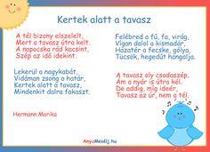 Tavaszváró vers ovisoknak :)