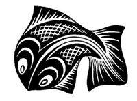 artnet Galleries: Fish by M. Escher from Skot Foreman Fine Art Escher Kunst, Escher Art, Mc Escher, Mark Making, Fisher, Wood Cut, Dutch Artists, Mosaic Patterns, Op Art