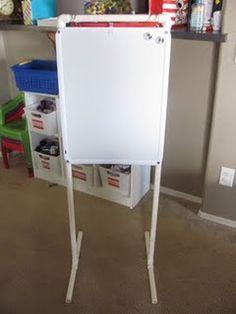 DIY whiteboard stand