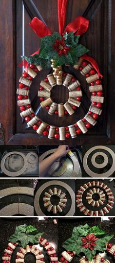 Creative looking Christmas wreath using simple materials. All you need are small materials that you can find at home, simple touch ups and combination of decorations can simply make any design stand out.
