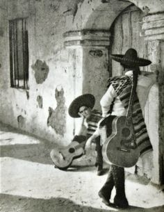 John Poole - Mexican musicians, Santa Barabara, California, 1930.