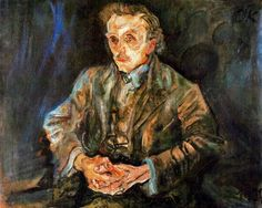 Oskar Kokoschka's portrait of the architect Adolf Loos, 1909. Neue Nationalgalerie, Berlin. Loos encouraged Kokoschka to leave the Wiener Werkstätte, arranged portrait commissions for him with his wealthy Viennese clients, and connected him to Herwarth Walden in Berlin, where Kokoschka was instrumental in launching Walden's journal, Der Sturm, in 1910.