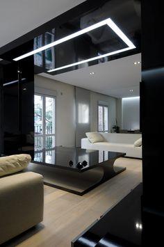 lovely black white apartment living room by cero