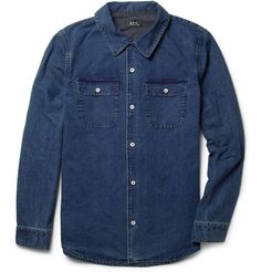 A.P.C. Washed-Chambray Shirt | MR PORTER