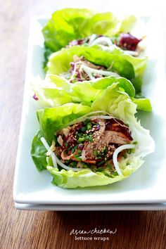 CHIC COASTAL LIVING: Three Things... Asian Chicken Lettuce Wraps