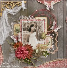 Mixed Media Scrapbook Page Video Tutorial by Gabrielle Pollacco for BoBunny. #BoBunny @gpollacco