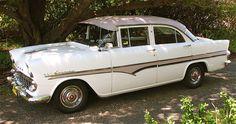 Holden EK 1961 Special Sedan Model 225 Snowcrest White Cameo Beige roof Canopy Industries accessory Flashline body moulds. Holden Premier, General Motors, Melbourne, Automobile, Australia, Club, Canopy, Classic, Model