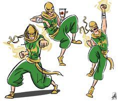 Iron Fist Costume Design by xxiiCoko on DeviantArt Marvel Fan Art, Marvel Comics Art, Luke Cage, Comic Books Art, Comic Art, Iron Fist Marvel, Misty Knight, Dynamic Poses, Weapon Concept Art