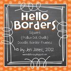 This mega-pack bundle of square polka dot chalkboard doodle borders is the cutest set of all! There are 25 hand drawn doodle borders (white) layere...