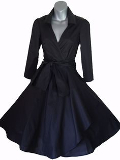 Vintage 50's Style Rockabilly Pinup Swing Wrap Evening Party Dress Sizes 6 26   eBay