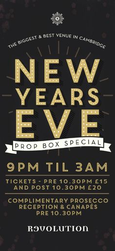 New Years Eve Graphic Design Flyer for Vodka Revs by www.diagramdesign.co.uk