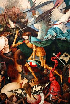 Bruegel the Elder, The Fall of the Rebel Angels -detail