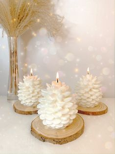 Cute Candles, Beautiful Candles, Best Candles, Christmas Candle Decorations, Christmas Candles, Christmas Home, Candle Craft, Candle Set, Diy Beauté