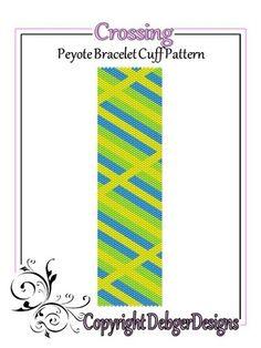 Crossing+-+Beaded+Peyote+Bracelet+Cuff+Pattern