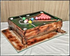 Snooker Table cake - Cake by Danijela Lilchickcupcakes