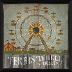 Ferris Wheel Framed Wall Art at Joss & Main
