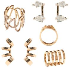 A selection of Gaia Repossi jewellery