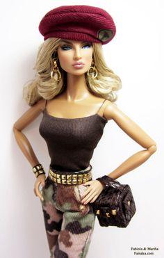 Camo Fashion for Fashion Royalty and Silkstone Barbie by Famaka, $65.00