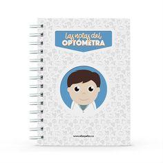 Cuaderno - Las notas del optómetra, encuentra este producto en nuestra tienda online y personalízalo con un nombre. Notebook, Dietitian, Notebooks, Report Cards, Training, Store, Brother, The Notebook, Exercise Book