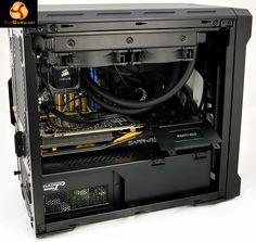 Seasonic Platinum 1200 in Phanteks Enthoo Evolv ITX case (KitGuru, 2015 March)