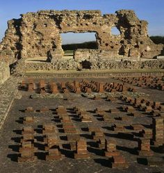 The baths basilica at Wroxeter Roman City