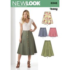 Find a pattern for Misses' Easy Skirts in Three Lengths at Simplicity, plus many more unique patterns. Visit today!