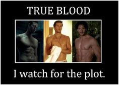 True Blood...I watch for the plot #joemanganiello #alexanderskarsgard