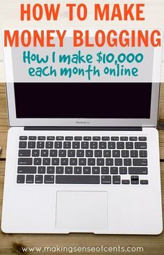 How To Make Money Blogging http://www.makingsenseofcents.com/2013/04/how-to-make-money-blogging.html Money Making Ideas, Making Money, #MakingMoney