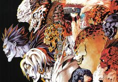 Death Note Shinigamis Rem Ryuk and others