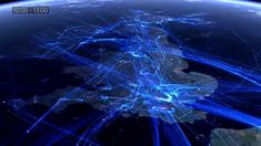 * Воздушный трафик над Европой за 24 часа... / 24 Hour European Flight Traffic Visualization...