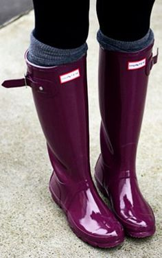 Black rain boots for winter when it snows!
