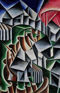Liubov Popova b. 1889, Ivanovskoye, nr Moscow; d. 1924, Moscow - Birsk,  1916,  Oil on canvas - 41 3/4 x 27 3/8 inches (106 x 69.5 cm) Guggenheim Museum