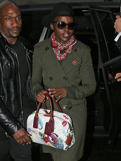 Lupita Nyong'o with our Marc Jacobs Gotham Bauletto Tote