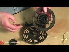 How to Repair a Small Engine Recoil Starter - http://www.thehowto.info/how-to-repair-a-small-engine-recoil-starter/