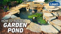 A backyard pond can add color and life to any landscape, and it's a DIY project that just about anyone can complete. We'll show you how to build a pond or water feature with a waterfall to give your backyard beauty and serenity.